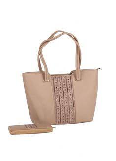 4ae06aa352e9b Get Susen PU Leather Tote Bag for Women - Beige with Stripes from Sanaulla  online store. Sanaulla Store has complete variety of Susen Handbags in  Pakistan.