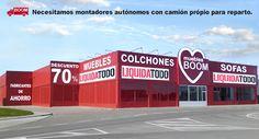 TIENDA DE MUEBLES BOOM en BURGOS AVENIDA PEDERNALES 56  (Desde Burgos a 2 km pasado Hotel Landa) - (Autovía A1 Carretera Madrid km. 233 - Salida 233 Villariezo) VILLAGONZALO PEDERNALES  (BURGOS)