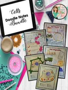 Set of doodle notes over the topic of cells. Includes one set of doodle notes for each of the following: - Cell Theory - Cell Organelles - Color Code - Animal Cell - Color Code- Plant Cell - Organs, Tissues and Organ Systems Related Products ⭐ Cell Theory Science and Literacy Activities