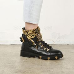 Moschino Ankle Strap Boots / Shop Super Street - 4
