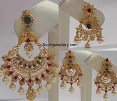 Indian Jewellery Designs - Page 2 of 1770 - Latest Indian Jewellery Designs 2020 ~ 22 Carat Gold Jewellery one gram gold Jewelry Design Earrings, Gold Earrings Designs, Gold Jewellery Design, Gold Jewelry, Necklace Designs, Jhumka Designs, India Jewelry, Bridal Jewellery, Diamond Jewellery