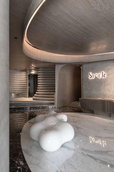 New Interior Design, Cafe Interior, Shop Interiors, Office Interiors, Spa Design, House Design, Modern Restaurant Design, Cladding Design, Curved Walls