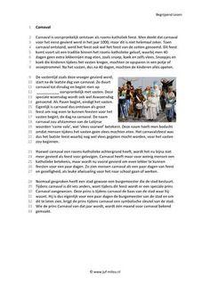 Begrijpend lezen - Carnaval