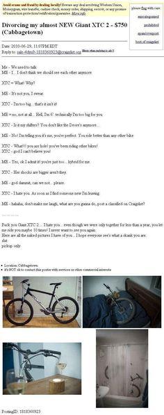 hahhaha I love funny craigslist ads