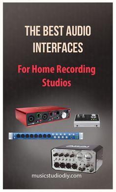 Best Audio Interfaces Guide for Home Music Studios Music Studio DIY Interior design could be Home Recording Studio Equipment, Music Production Equipment, Recording Studio Design, Music Studio Decor, Home Studio Music, Home Studio Setup, Audio Studio, Sound Studio, Futons