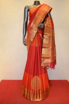 Grand Wedding Kanjeevaram Silk Adoring With Traditional Chakram Zari Butta