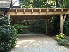 12 Carports That Are Actually Attractive - pergola - Carports get a bad reputation, but these porte-cocheres and carports incorporate style with design - Diy Pergola, Wooden Pergola Kits, Pergola Carport, Building A Pergola, Deck With Pergola, Pergola Shade, Pergola Ideas, Carport Garage, Attached Pergola