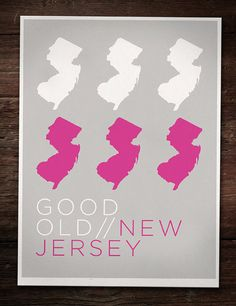 New Jersey Poster by geographicdesigner on Etsy