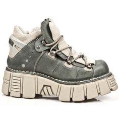 New Rock Metallic Leather Boots - Design: M.106-R5