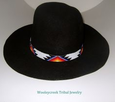 Beaded Hatband Native American Creek Loom Design By Wooleycreek   Wooleycreek - Accessories on ArtFire