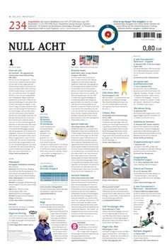 Null Acht, Issue #2 Editorial Design, Editorial Layout