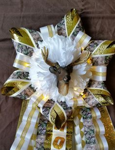 Browning Camo Homecoming Garter with Lights - Ready To Ship