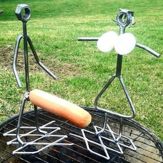 Funny Hot dog & marshmallow cookers bbq grill by BarbieTheWelder