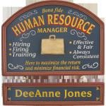 Human Resource Mgr And Nameboard