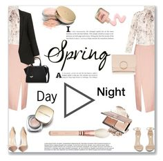 """""""Day to Evening"""" by mood-chic ❤ liked on Polyvore featuring Rochas, C/MEO COLLECTIVE, Gianvito Rossi, Jeffrey Campbell, Dolce&Gabbana, Topshop, Fendi, Jane Iredale and daytoevening"""