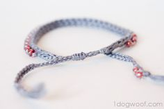 One Dog Woof: Crochet Bracelet with Beads