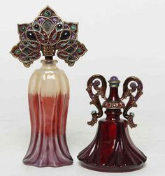 Two Jay Strongwater Perfume Bottles, Height of tallest : Lot 3074
