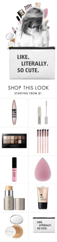 """""""daily makeup tag!"""" by alessia-xcx ❤ liked on Polyvore featuring beauty, Maybelline, Smashbox, NYX, Ilia, Charlotte Russe, Prada, Beauty and polyvoreeditorial"""