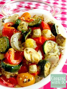 Cooking with K: Roasted Ratatouille Vegetables Recipe