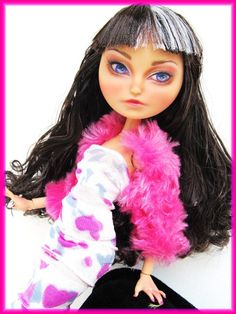 Ever After High Doll Cerise Hood Repaint   Doll by Fantasydolls, $65.00 Monster High Custom, Ever After High, Monster High Dolls, Ooak Dolls
