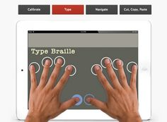 An app that brings a Brailler to your tablet.