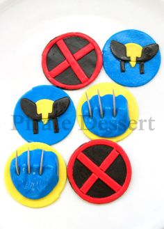 WOLVERINE Edible Cupcake Toppers  XMen Cupcakes  by PirateDessert, $16.00