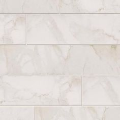 MARAZZI VitaElegante Bianco 6 in. x 24 in. Porcelain Floor and Wall Tile (14.53…