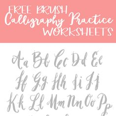 """Free Brush Calligraphy Practice Worksheets: Hey Friends! Since Iliterally have the worst penmanship know to mankind.. Iwas super excited to have stumbled upon these Free Brush Calligraphy Practice Worksheets over at CM! The original post is about """"How to Make a Living off Your Hand Lettering Skills"""" which is pretty interesting in-itself.. but if you...Read More »"""