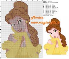 Schema punto croce Belle 80x110 11 colori.jpg (2.8 MB) Mai osservato