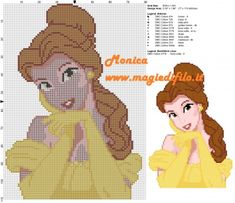 Belle (80x110) - Beauty and the Beast pattern by Monica