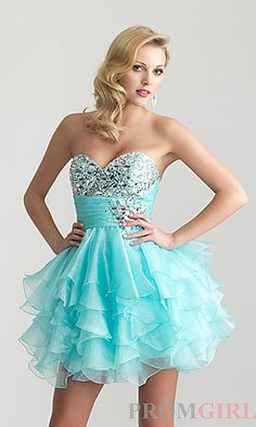 Short blue grad dress comes in yellow and pink too