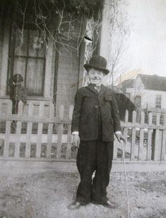 Young Boy dressed as Chaplin for Halloween :) c.1924