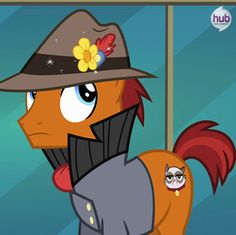 Grumpy cat pony, they're not even being subtle w/ the references anymore but oh well it's still awesome.