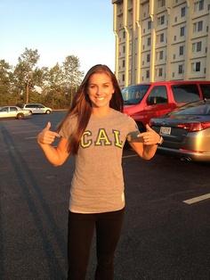 Alex Morgan - USA Gold medalist soccer hero in her alma mater CAL Retro  Brand shirt. bad00cee3