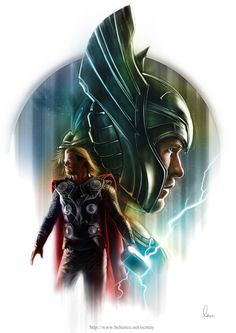 Thor & Loki - series of Poster by May Ooi