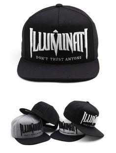 ILLUMINATI lettering cheap snapback hat Hiphop flat baseball cap 4 colors #Hoonyz #snapbackhat