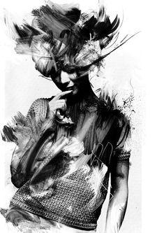 'Eurydice' 2012 by Russ Mills, via Behance