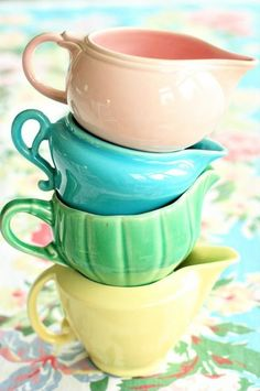 I would love a pretty little pottery creamer, vintage or not, for serving sauces at table.