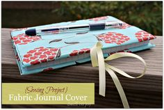 Dwell on Joy: {Sewing Project} Fabric Journal Cover Tutorial