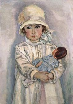 Little girl and her doll by Jan Sluyters about 1928.