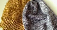 Mä, suuri myssyjen ystävä, tein harmaan, yksinkertaisen myssyn Uncommon Threadin Merino Silk Fingering-langasta eräällä työmatkalla viime ke... Knitted Hats, Knitting, Fashion, Moda, Tricot, Fashion Styles, Knit Caps, Cast On Knitting, Stricken