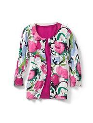 Talbots - Breezy Floral Cardigan