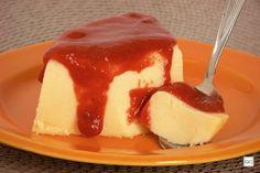 Pudim de queijo com goiabada
