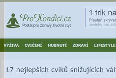 17 nejlepších cviků snižujících váhu | ProKondici.cz