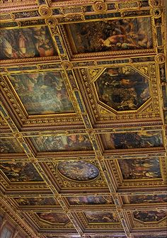 Ceiling panels Hall of 500, Florence Google