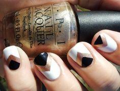 metallic-chevron-nail-art-for-short-nails.jpg 700×534 pixels