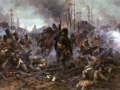 """Averyanov painting - """"General Delzons in the Battle of Maloyaroslavets"""" Military Art, Military History, Military Units, Battle Of Borodino, Art Of Fighting, Seven Years' War, French Army, Empire, Historical Art"""