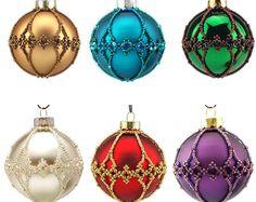 Glass Christmas Ornaments, buy 6 pay for 5. Handmade. 6 cm diameter.