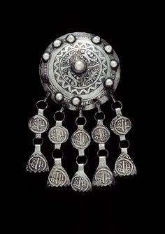 Morocco | Pectoral; silver, niello | African Museum (Belgium) Collection; acquired 1969
