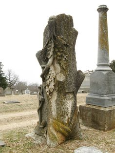 Elaborate Woodmen of the World Marker - Oakland Cemetery, Little Rock, Arkansas (Source) #cemetery #quote #quotation #aphorism #quoteallthethings